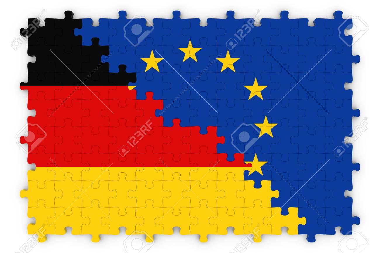 Allemand Et Concept Relations Européenne Image - Drapeaux De L ...