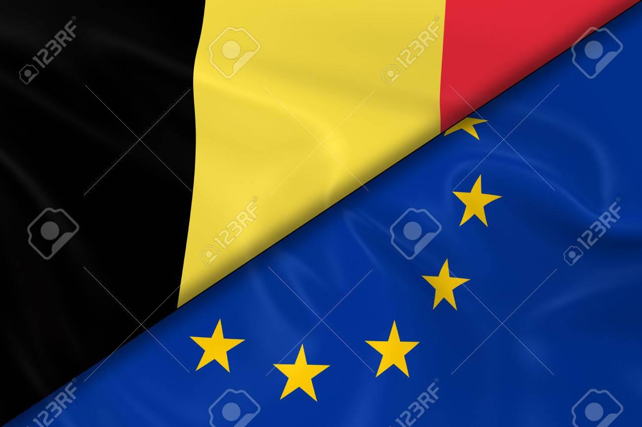 Afbeeldingsresultaat voor fotos europese  en Belgische vlag