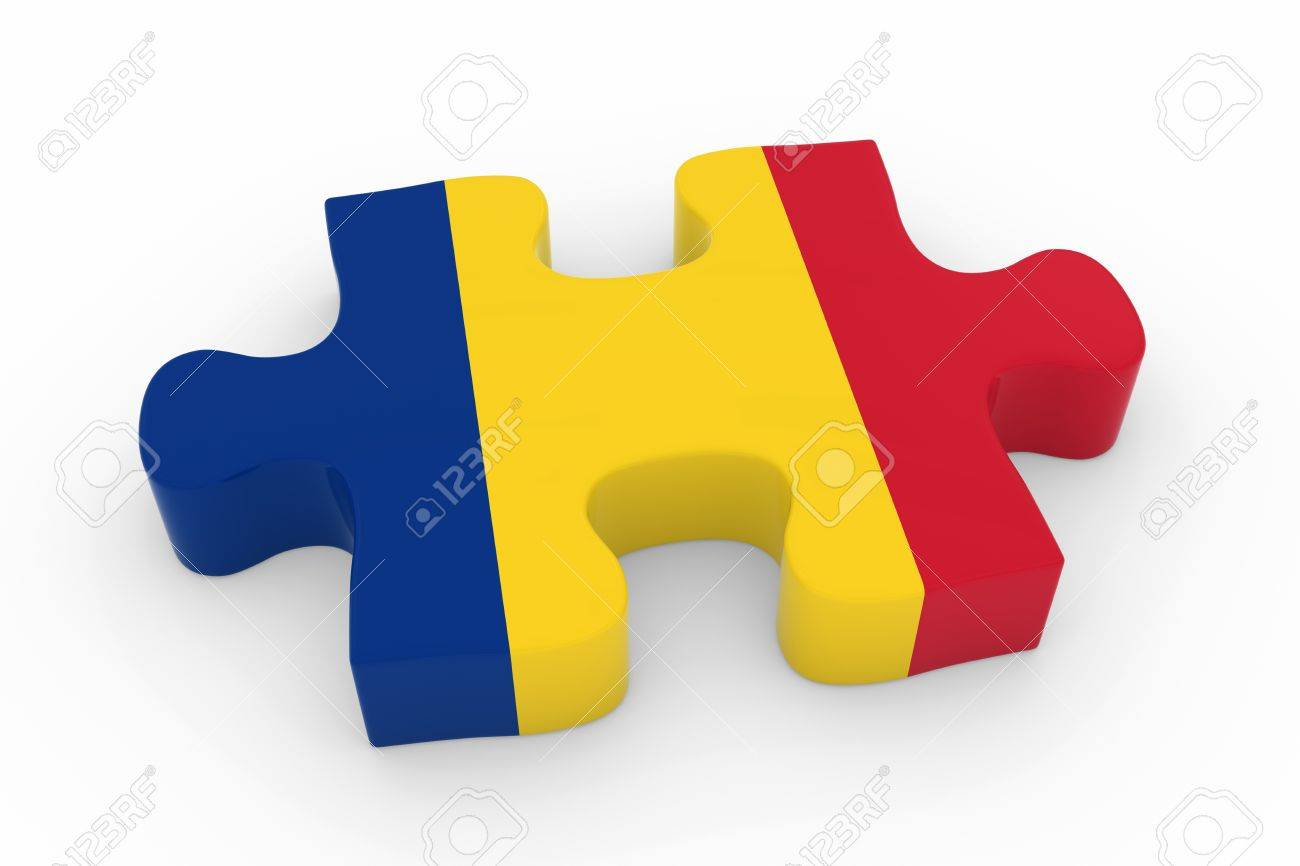 Romanian Flag Puzzle Piece