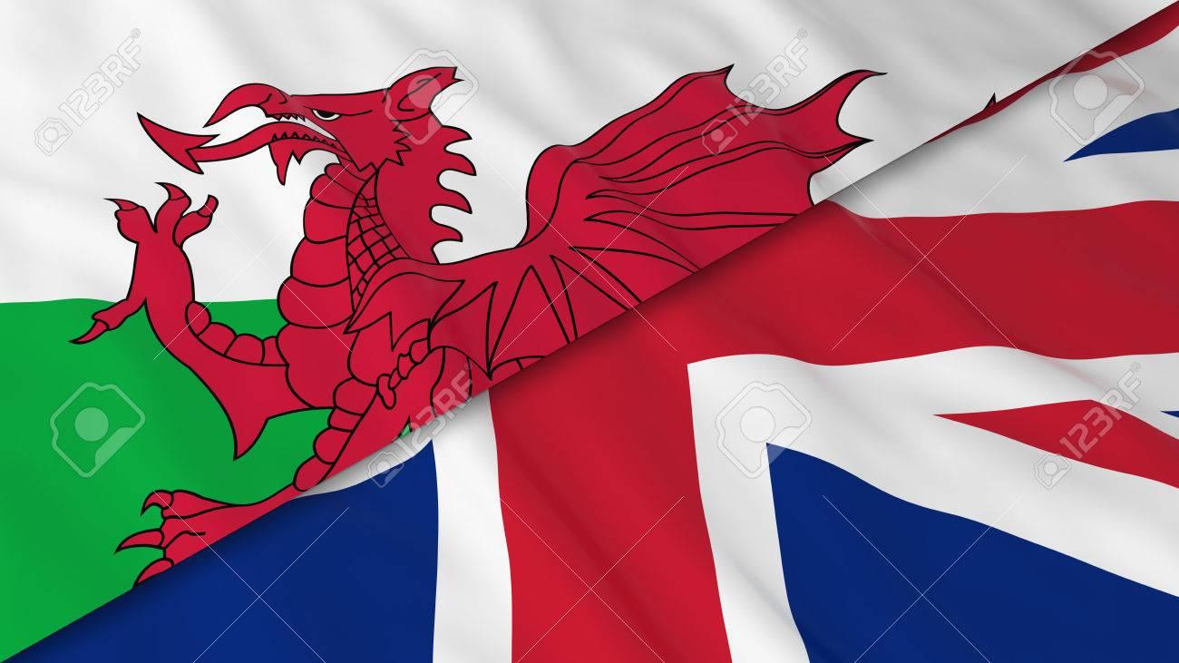 Excelente Bandera De Gales Componente - Enmarcado Para Colorear ...