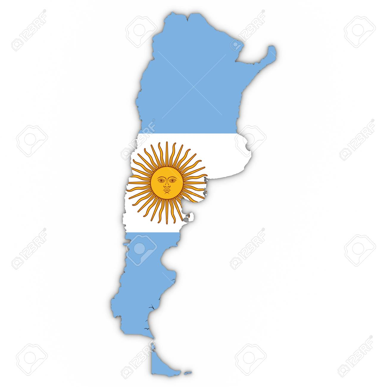 Outline Of Argentina Wiring Diagrams Fetpnpbootstrappedsourcefollower Amplifiercircuit Circuit Map With Argentinian Flag On White Shadows Rh 123rf Com Graphics Country