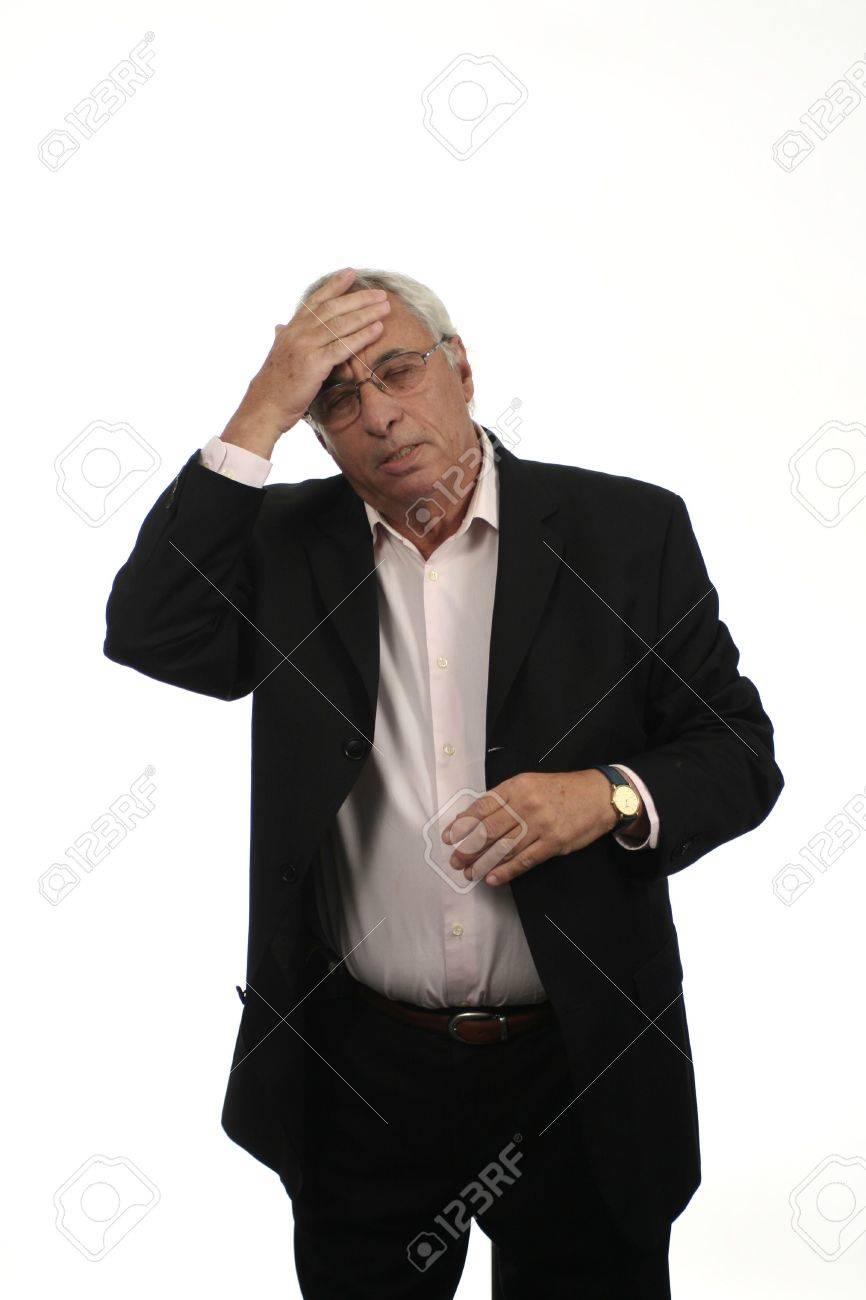 senior with migraine Stock Photo - 259262