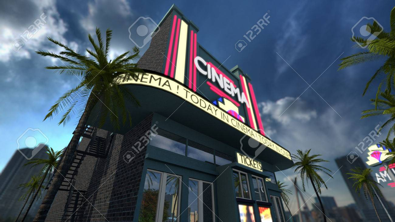 Exterior Of A Cinema Movie Theater Old Fashioned Vintage Style Stock Photo Picture And Royalty Free Image Image 53470975