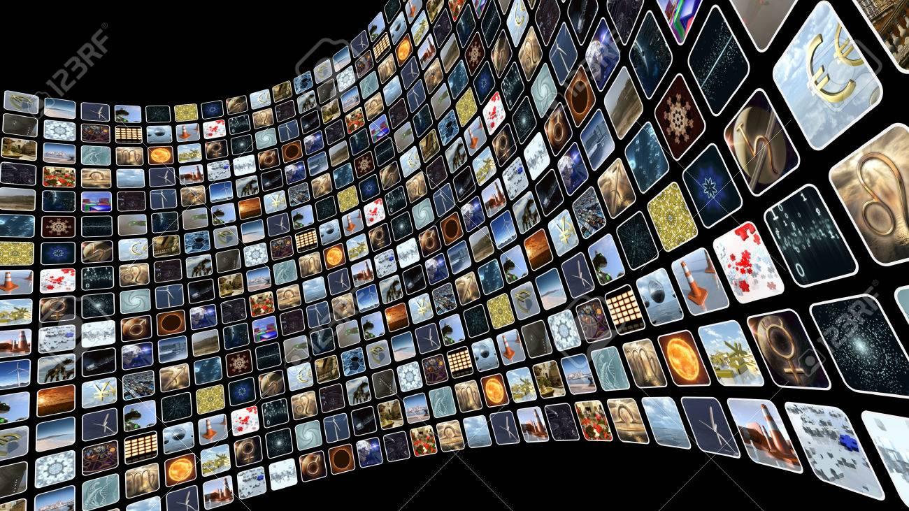 ⭐️⭐️⭐️ RÉSULTATS du meilleur montage #JUIN 2021  ⭐️⭐️⭐️ 76238032-mur-d-image-avec-plusieurs-ic%C3%B4nes-%C3%A0-l-%C3%A9cran-rendu-3d