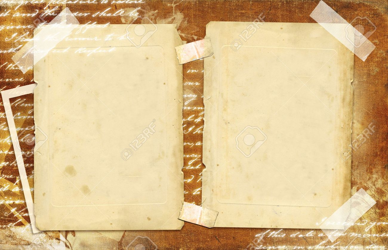 vintage photo album with blank pages stock photo picture and