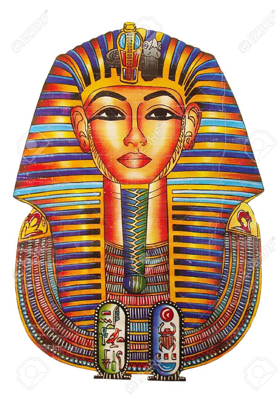 Egyptian Headdress Drawing Egyptian Drawing of Pharaoh