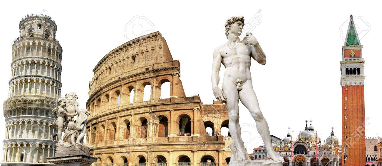 Famous Italian Architecture greatest italian landmarks, travel background stock photo, picture