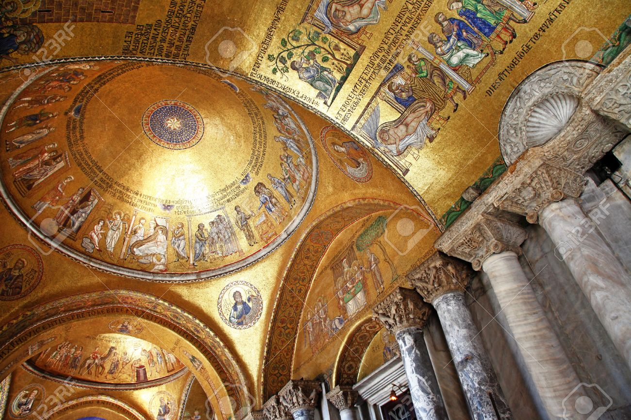 Venice - San Marco Basilica Inside Stock Photo, Picture And Royalty ...