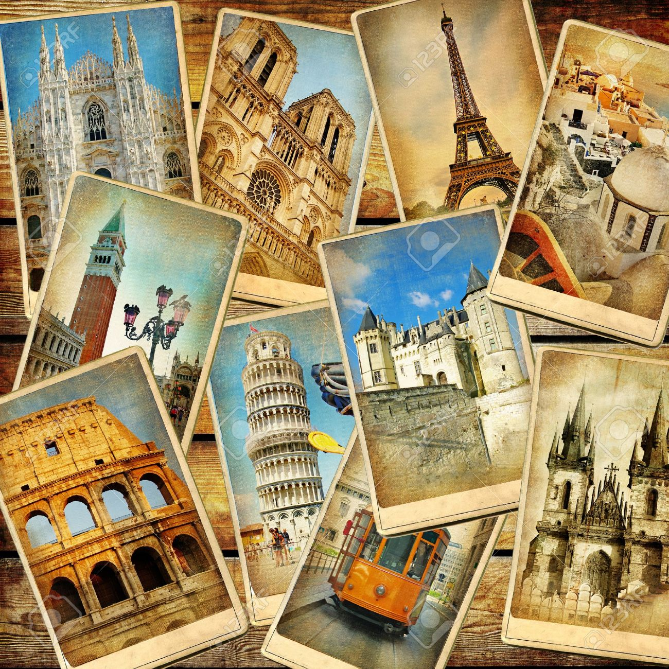 Vintage Travel Background Collage Stock Photo Picture And Royalty Free Image Image 14971000