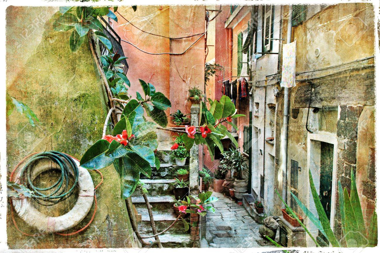 pictorial old streets of Italy, artistic picture Stock Photo - 17110251