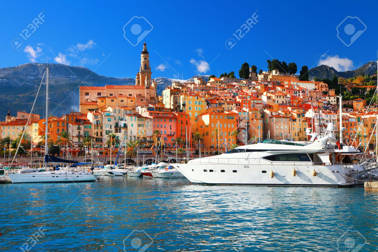 Menton -beautiful town in south of France - 25126428