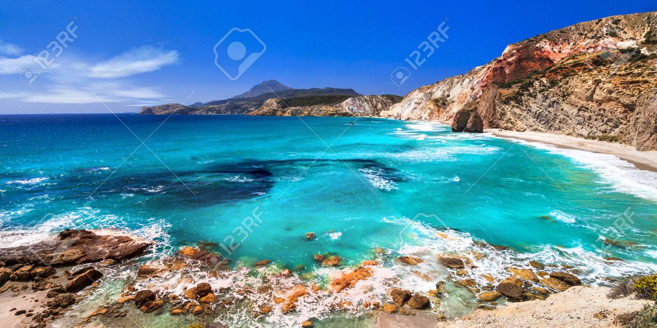 Greece - Milos island, beautiful beach - 43551062