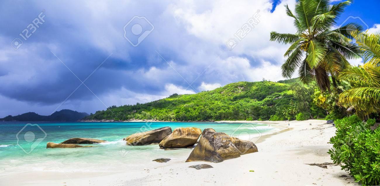 white beaches of Seychelles - tropical paradise - 44234349