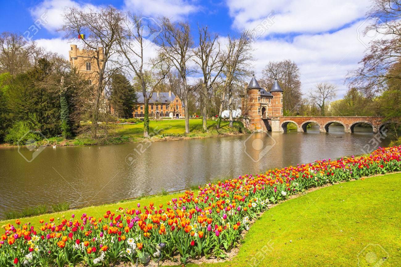 romantic castle Groot-Bijgaarden, Belgium - 53812053