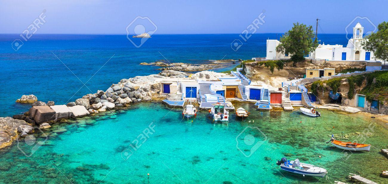 traditional Greek islands - Milos, Cyclades - 53845603
