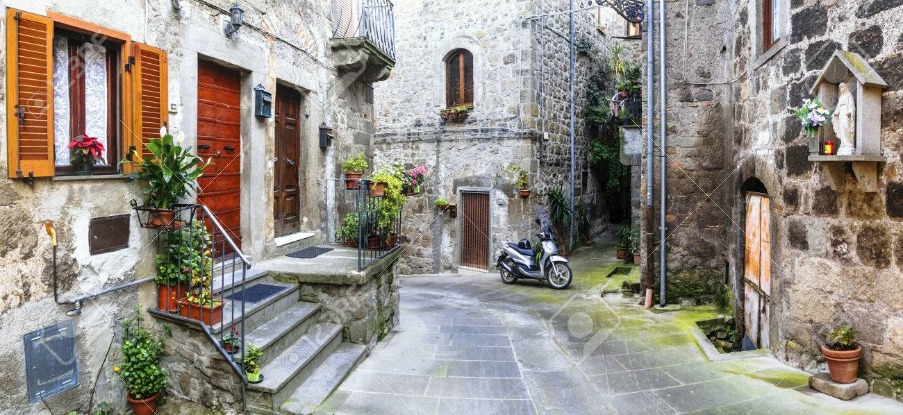 charming streets of old italian villages, Vitorchiano - 53846645