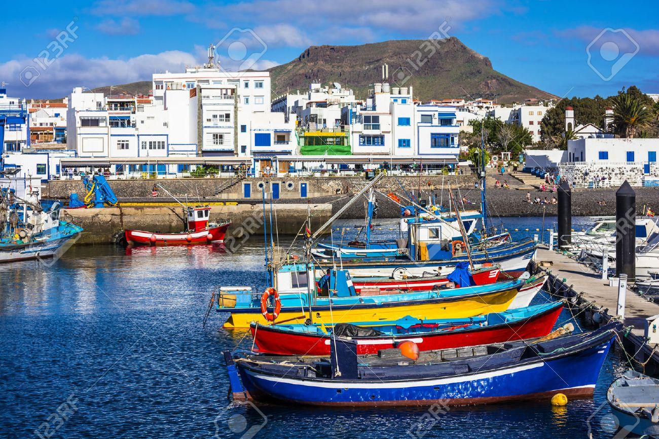 Puerto de las nieves - pictorial fishing village in Gran Canaria - 60168717