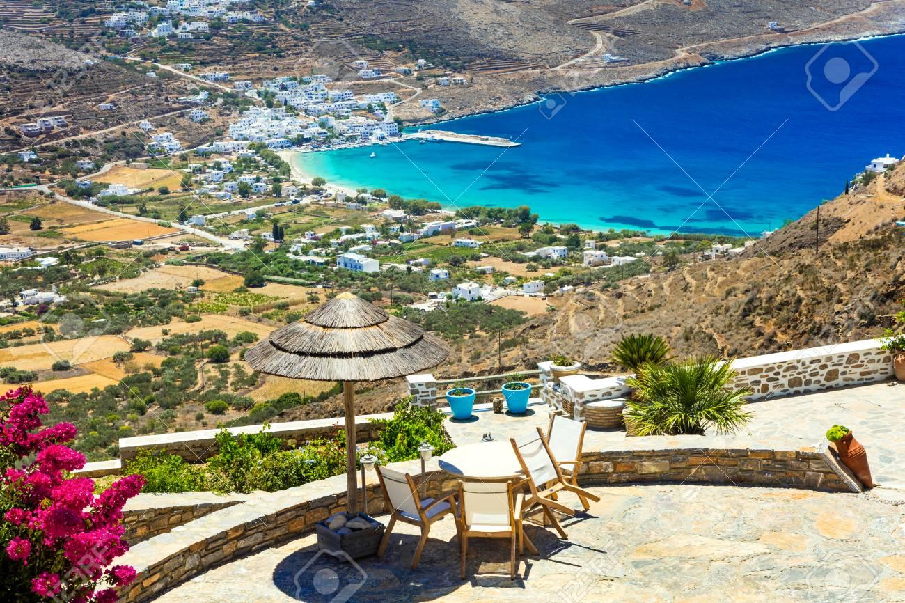 Greece, holidays in beautiful Amorgos island, Cyclades - 60168728
