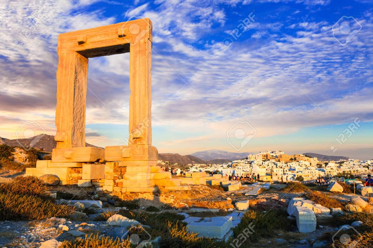 Landmarks of Greece - Antique Potara gates in Naxos island - 61376076