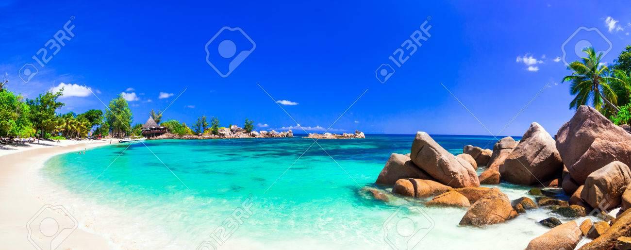 most beautiful tropical beaches - Seychelles, Praslin island - 62770432