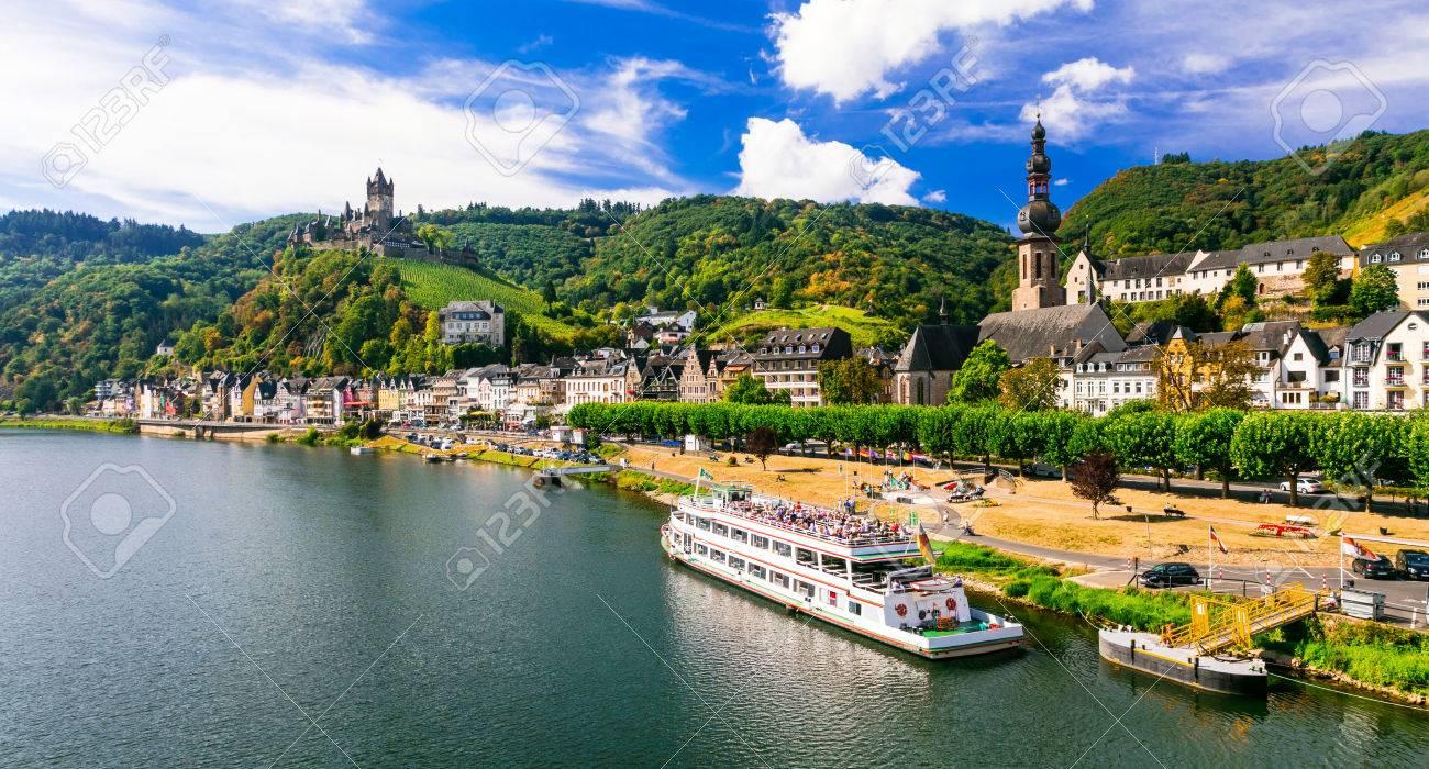 Cochem - medieval town in Rhein river, Germany - 64898212