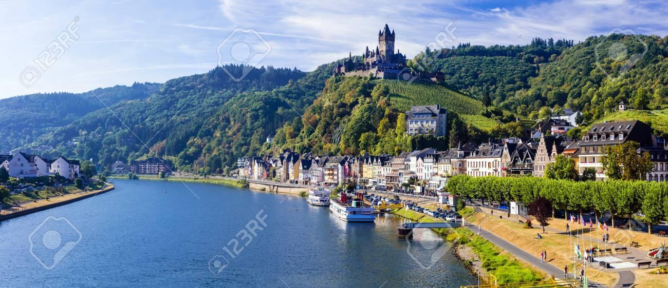 Cochem - medieval town in Rhein river, Germany - 64898221