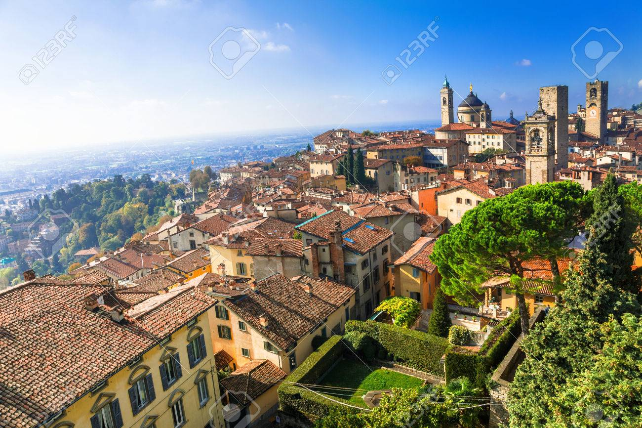 Bergamo - medieval town, north Italy - 64898222