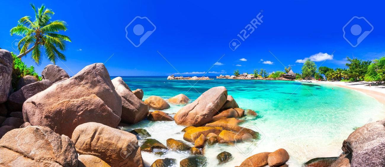 amazing tropical beach scenery - Seychelles islands - 64898639