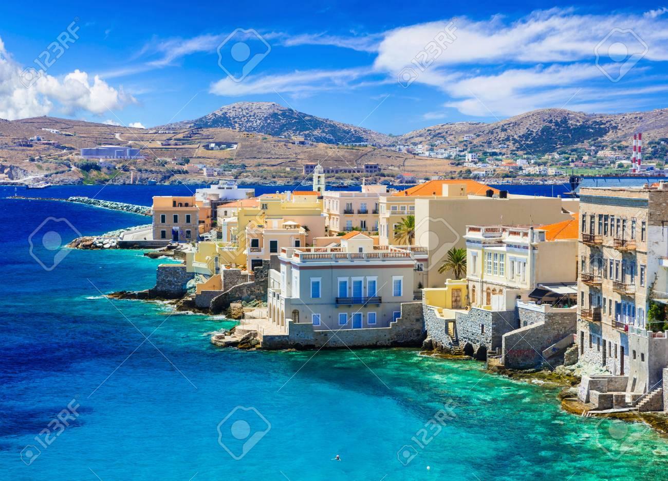 "Syros island - ""little Venice"", Greece, cyclades - 64898673"