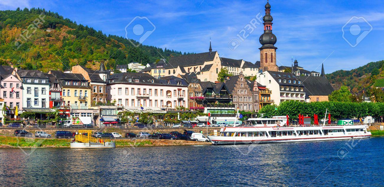 Travel in Germany - beautiful Cochem town, Rhein river cruises - 68039394