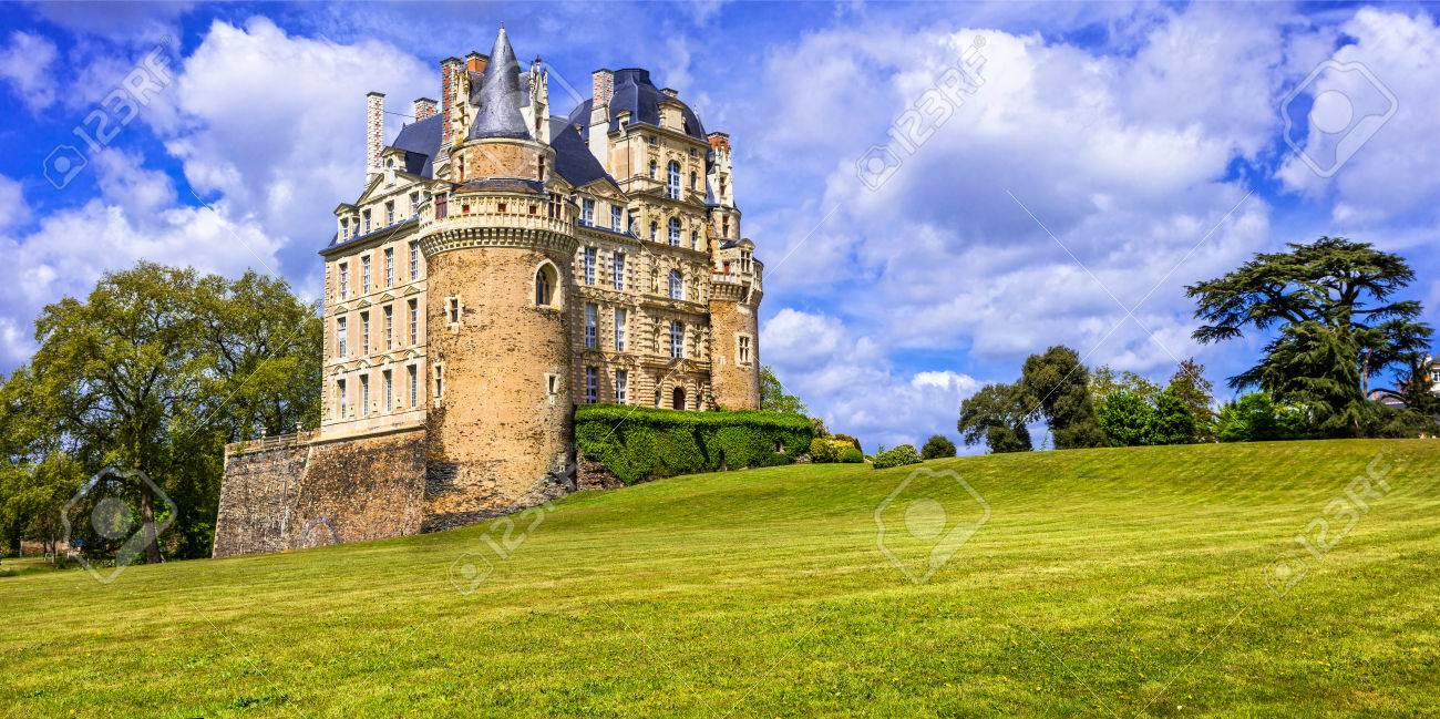 Beautiful Brissac Castle, Loire Valley, Panoramic view, France - 81386390