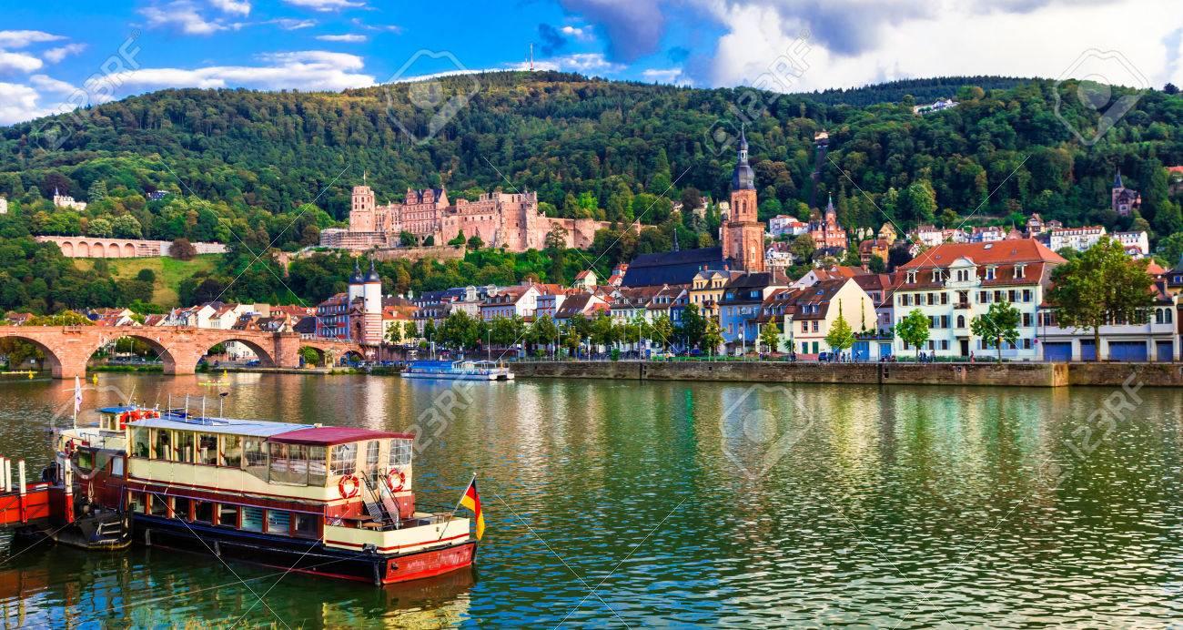Beautiful Heidelberg medieval town, panoramic view, Germany. - 84551698