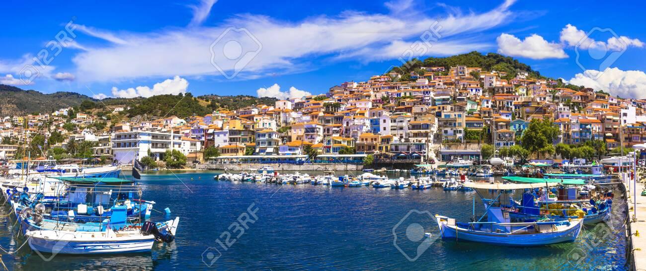 Beautiful Plomari town, Lesvos island, Greece. - 144737185