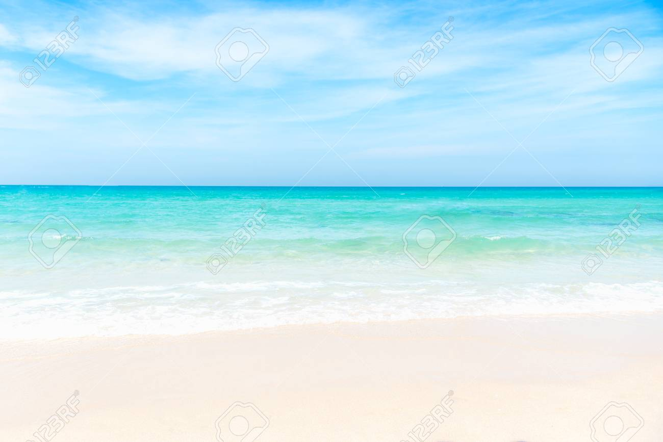 Empty sea and beach background with copy space. Summer Concept