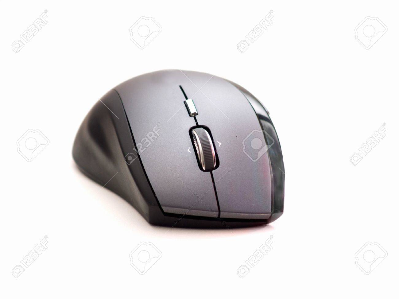 Black Contemporary computer mouse on white background Stock Photo - 4395838