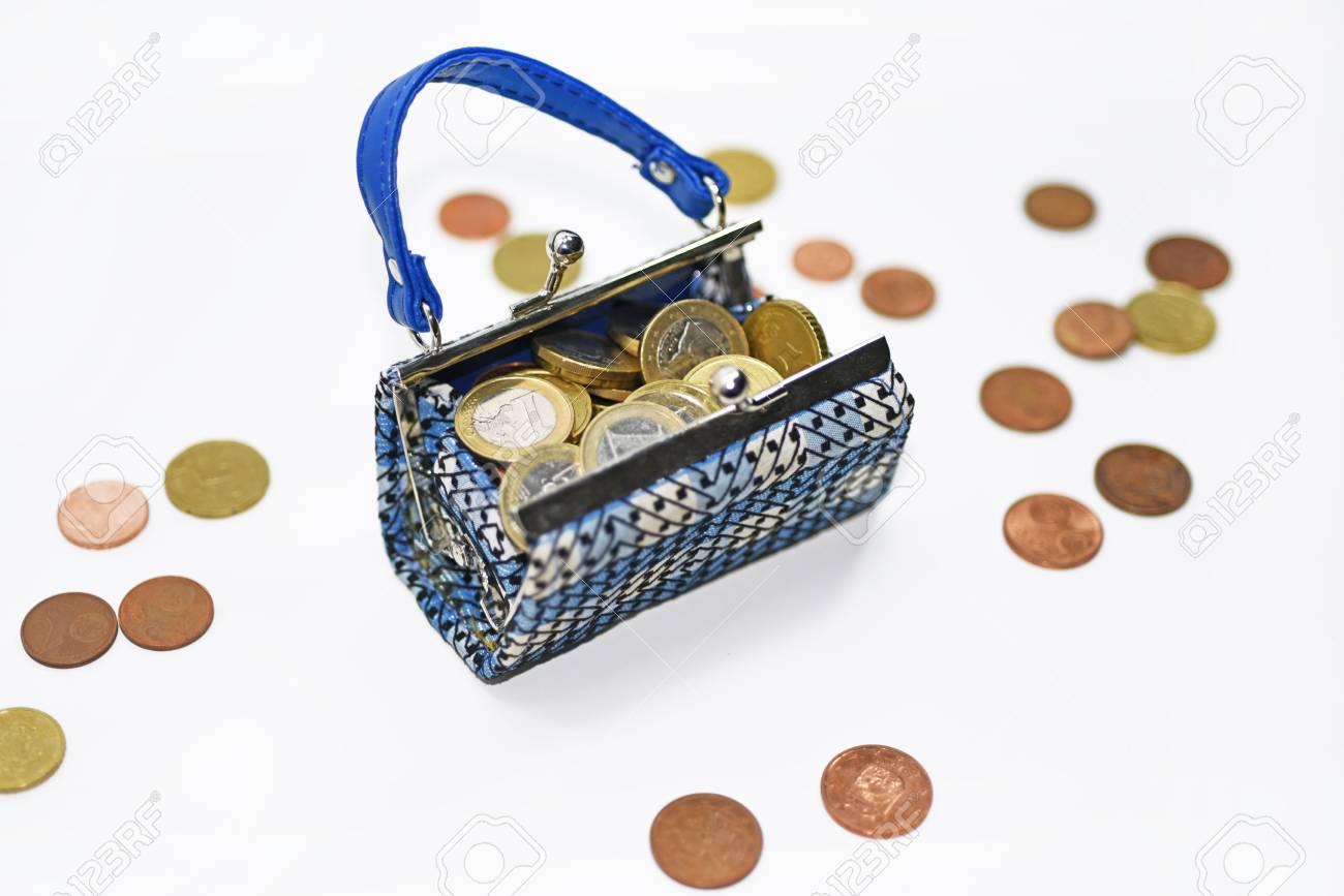 Kleines Spielzeug Schlecht Mit Euro Münzen