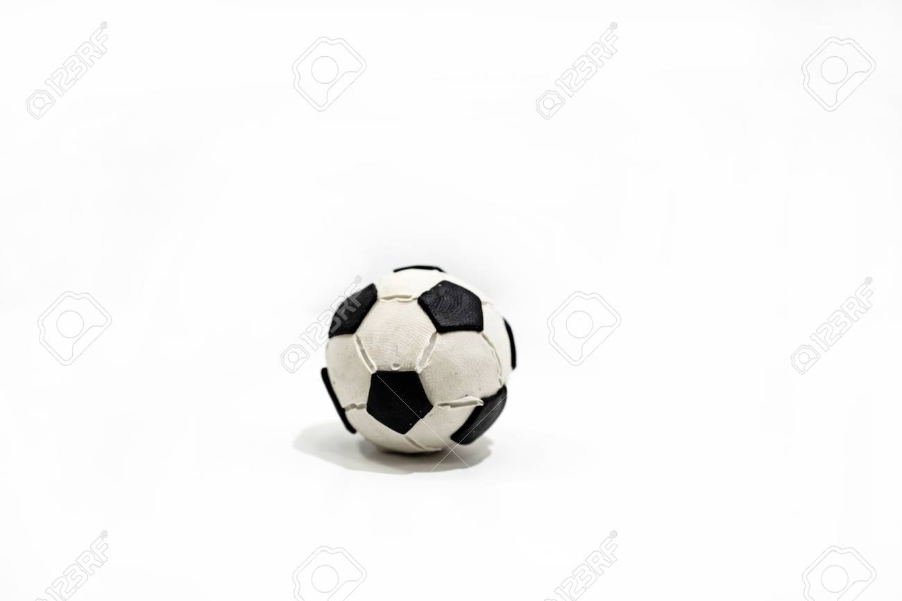 plasticine artwork soccer ball made from plasticine stock photo