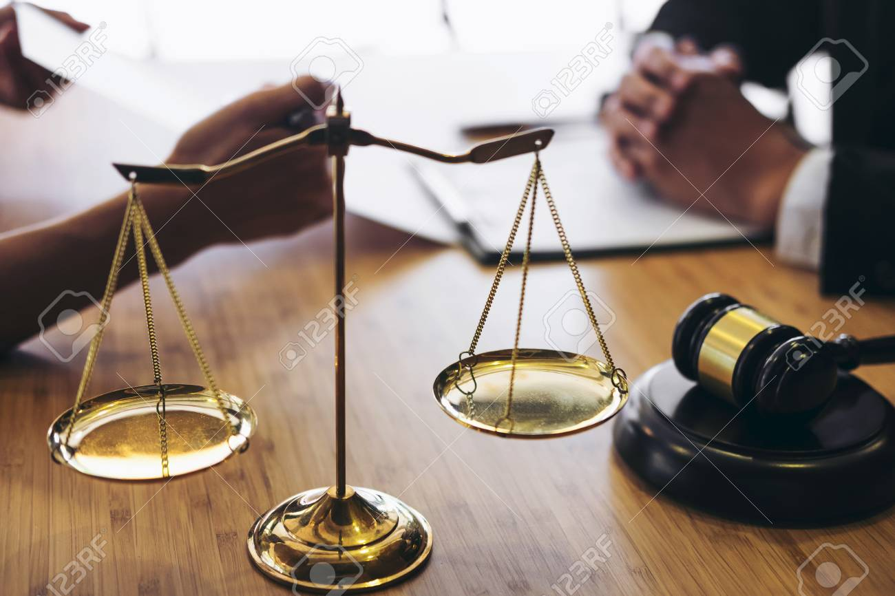 Customer service good cooperation, Consultation between a male lawyer and business people customer, tax and the company of real estate concept. - 89550174