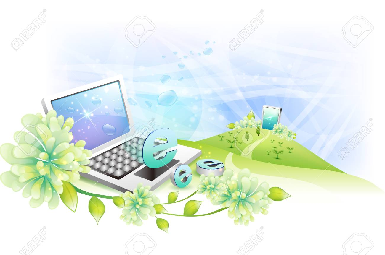 Internet symbol e on laptop computer with mobile phone in the internet symbol e on laptop computer with mobile phone in the background stock photo 37993022 biocorpaavc