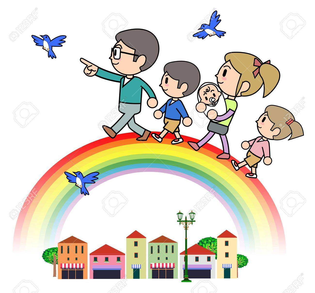 Rainbow Family Stock Photo - 15332516