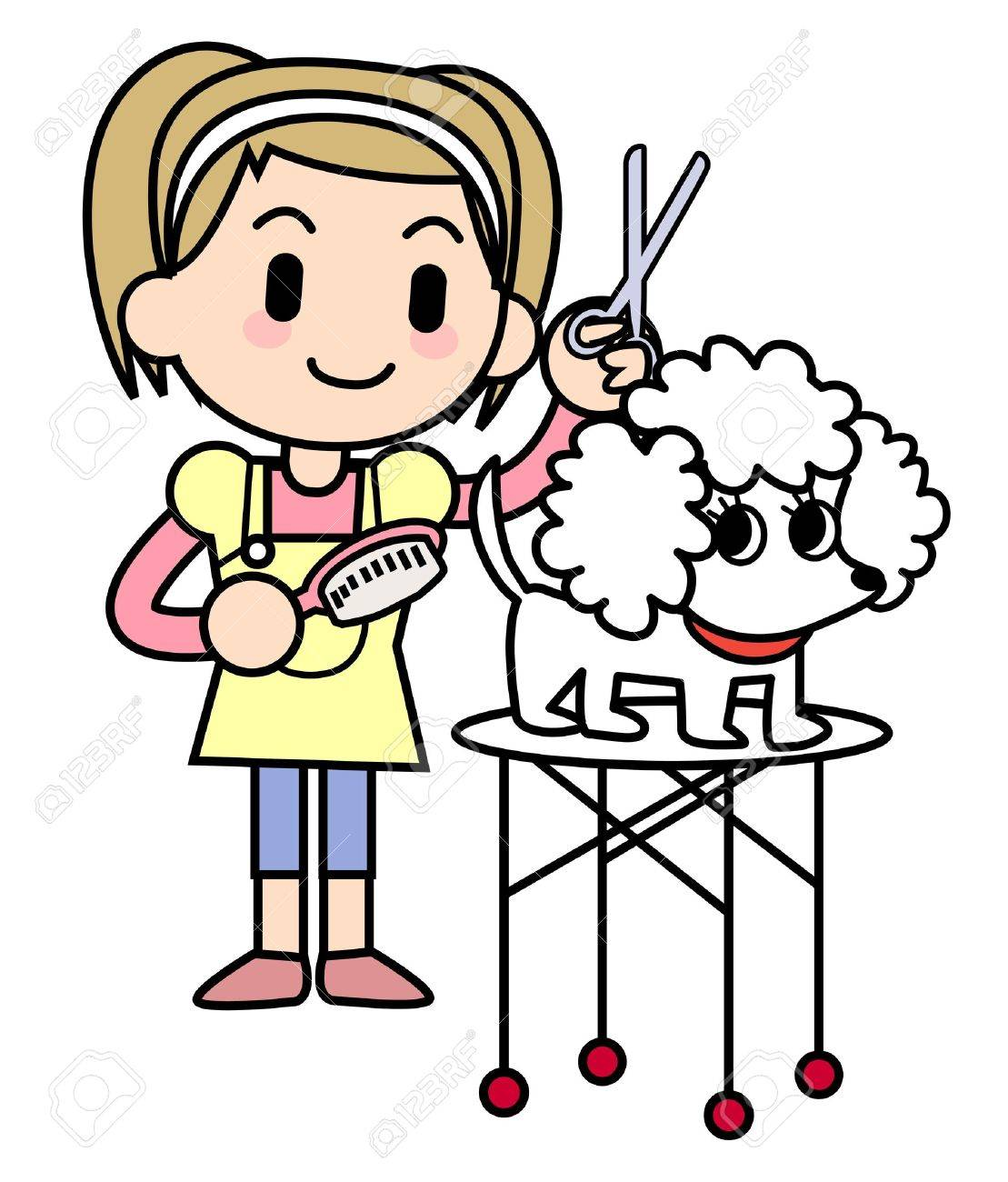 dog groomer stock photo picture and royalty free image image 15372997 rh 123rf com dog grooming logo clip art dog grooming clip art free
