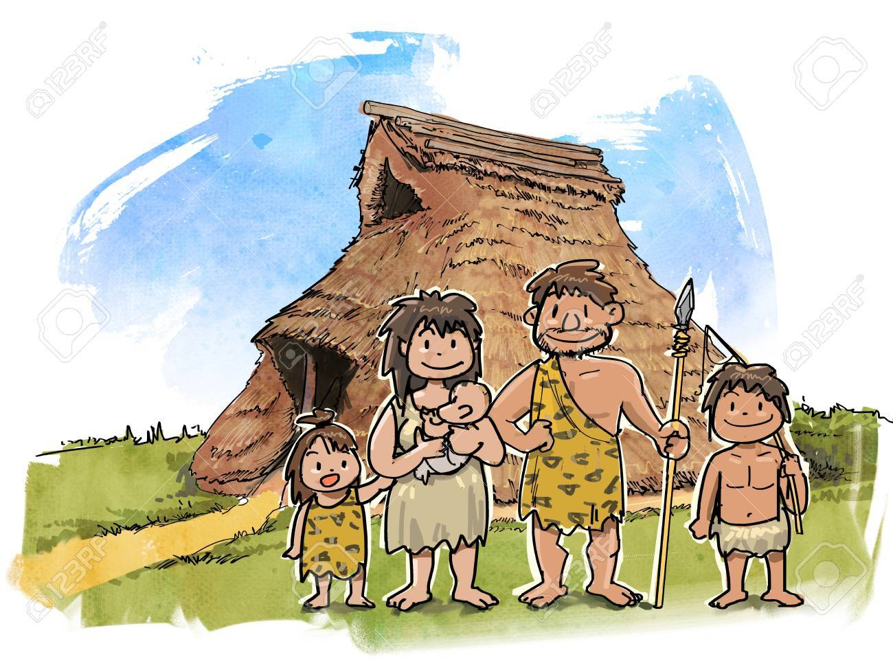Pit Houses And Families Stock Photo Picture And Royalty Free Image Image 56800430