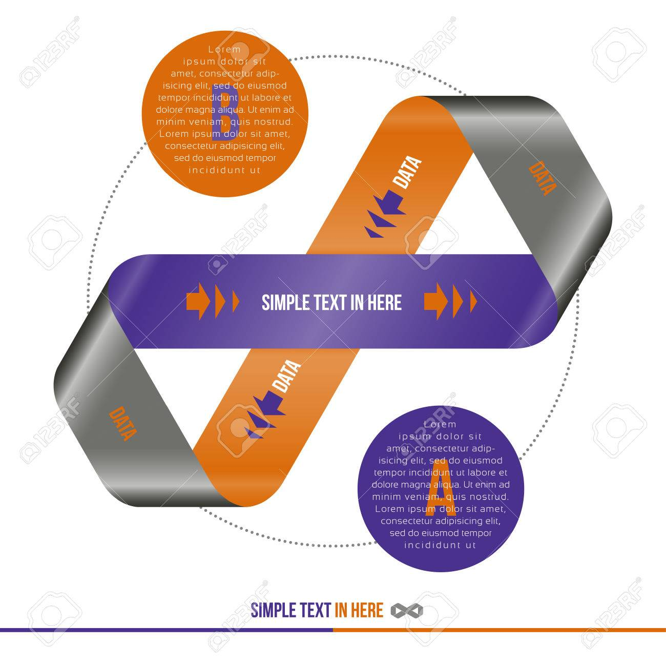Mobius strip of paper  Vector option infographic Stock Vector - 24760006