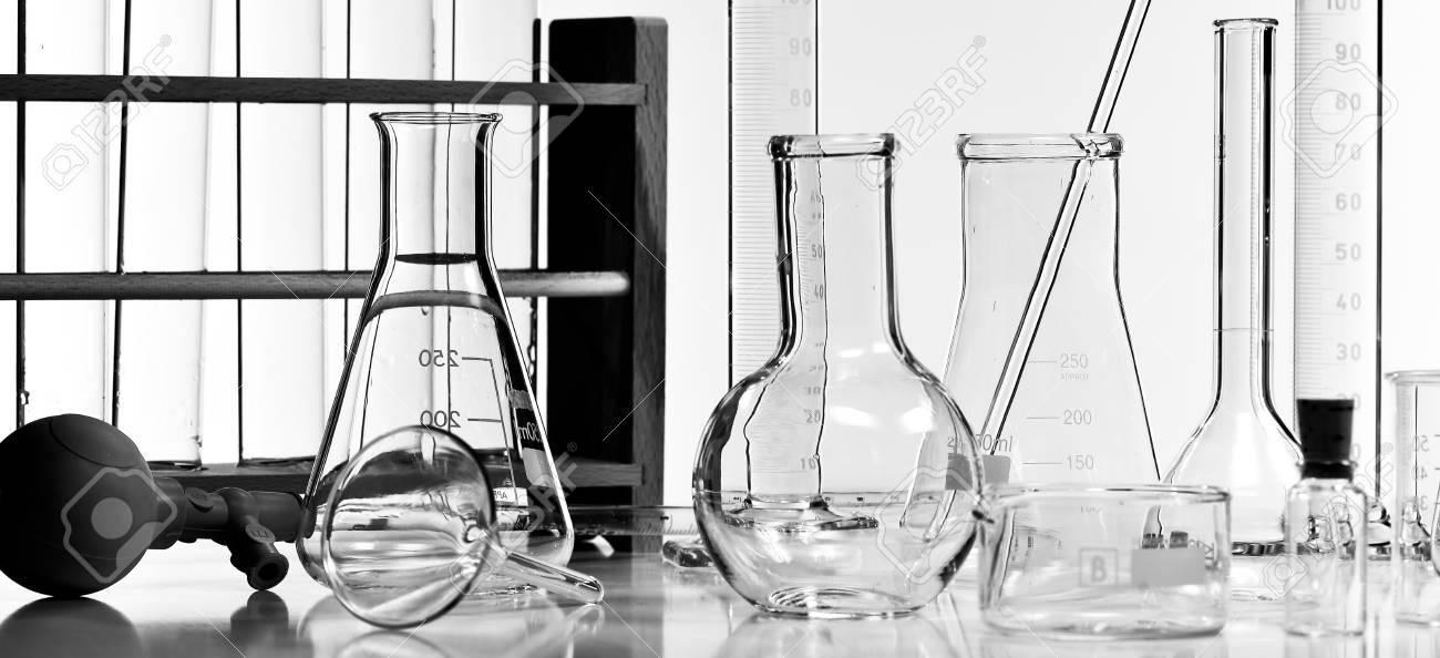 Chemical science laboratory test tube laboratory equipment studio shoot stock photo
