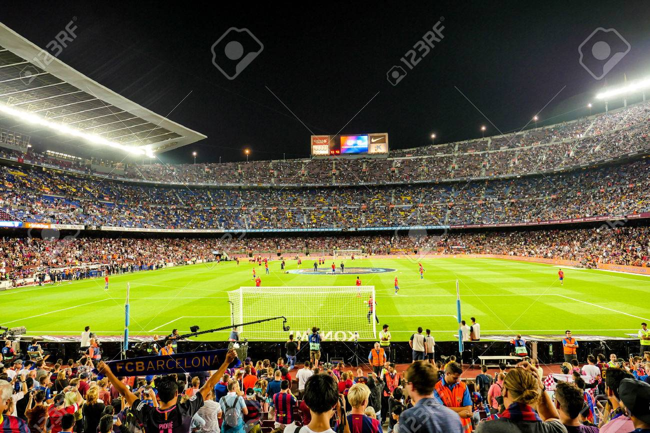 Barcelona, Nou Camp, football stadium, Spain Stock Photo - 64518930