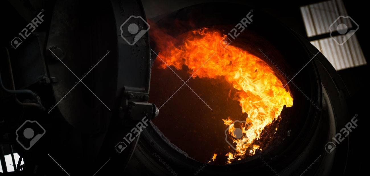 Hot steel pouring in steel plant, iron, aluminium Stock Photo - 71962796