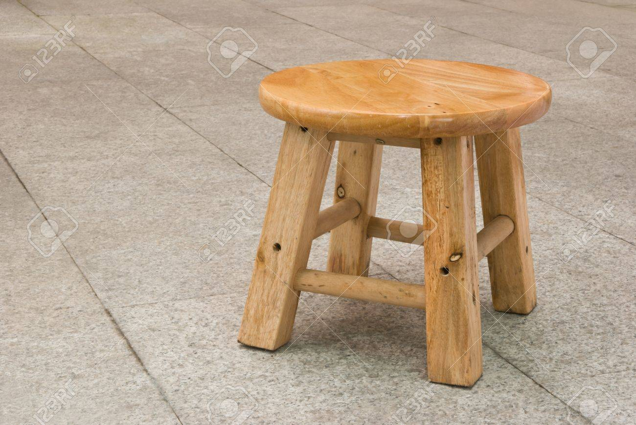 Round Top Small Wooden Chair Stock Photo   17615632