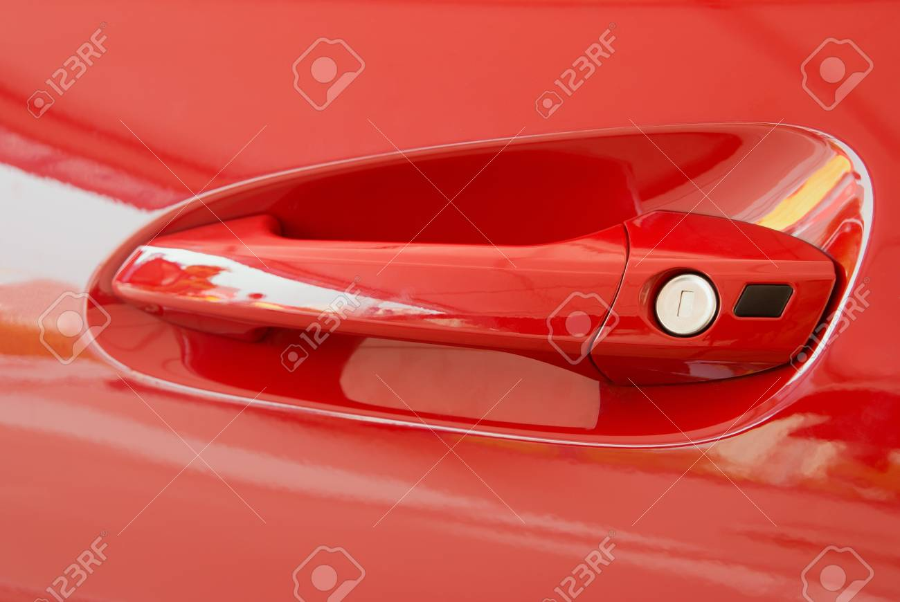 sporty car door handle Stock Photo - 17614206