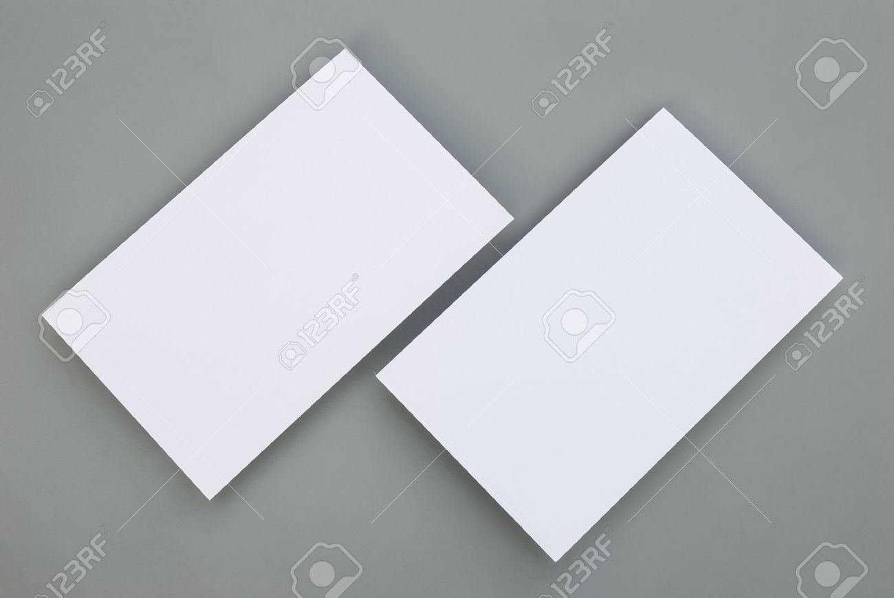 Blank business cards on grey background stock photo picture and blank business cards on grey background stock photo 17691956 reheart Images