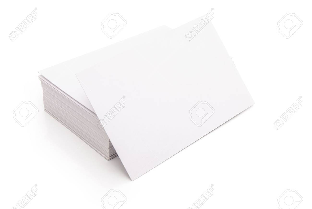 Blank business cards stack up on white with clipping path stock blank business cards stack up on white with clipping path stock photo 19725757 reheart Image collections